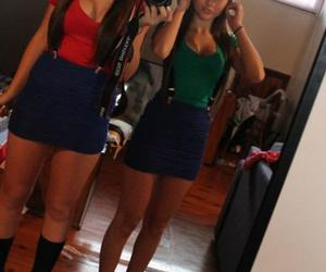 girls, mario, and luigi image