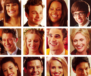 glee, smile, and glee cast image