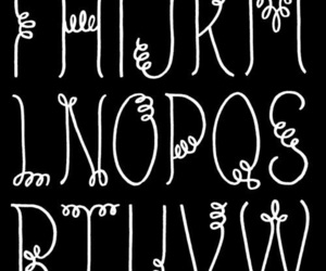 font, handlettering, and lettering image