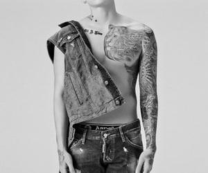 abs, korean, and shirtless image