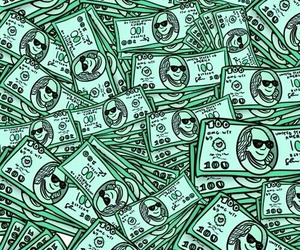dollar, green, and money image