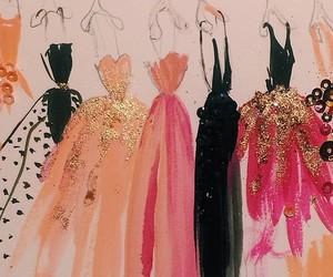 dress, art, and drawing image