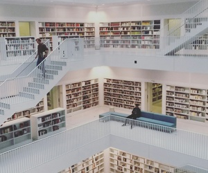 books, library, and lost image