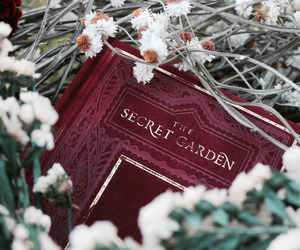 book, The Secret Garden, and nature image