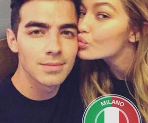 Joe Jonas, gigi hadid, and kiss image