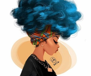 Afro, art, and illustration image