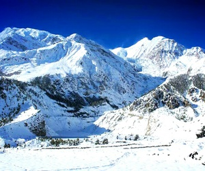 mountains, nature, and nepal image
