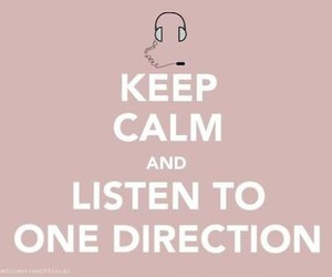 keep calm, one direction, and music image