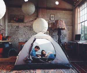 couple, inspiration, and tent image