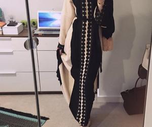 abaya, arabic, and hijab image