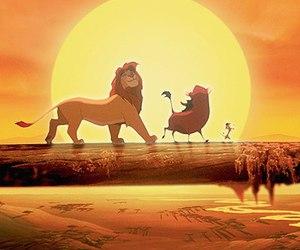 cartoons, disney, and king image