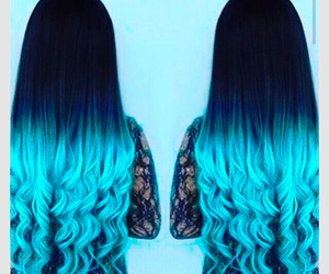 awesome, beautiful hair, and blue image