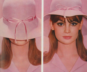 60s, hat, and pink image