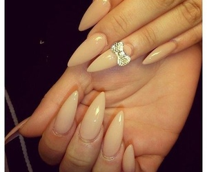 nails, bow, and Nude image