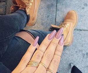 nails, timberland, and ring image