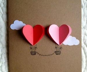 diy, hearts, and card image