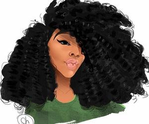 melanin, art, and hair image