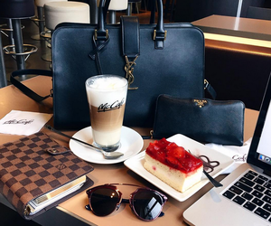 coffee, macbook, and Prada image