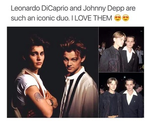 johnny depp, leonardo dicaprio, and Hot image