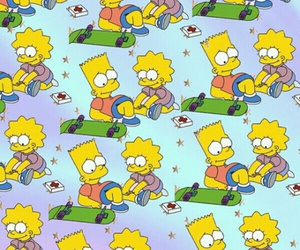 bart, lisa, and background image