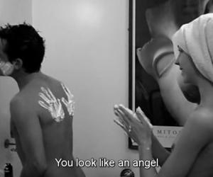 black, angel, and love image