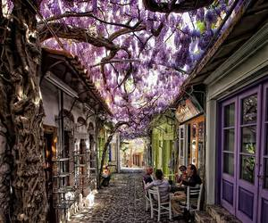 Greece, purple, and molyvos village image