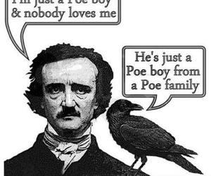 edgar allan poe, funny, and poe image