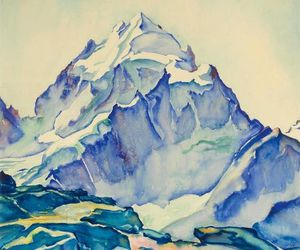 art, mountain, and painting image