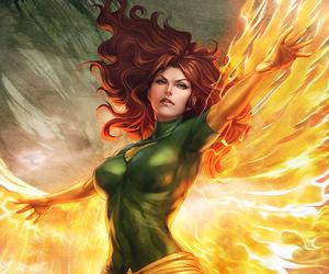 phoenix, jean grey, and Marvel image
