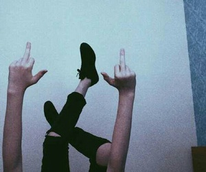 grunge, aesthetic, and middle finger image