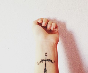 tattoo, arrow, and tatto image