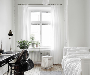 white and bed image