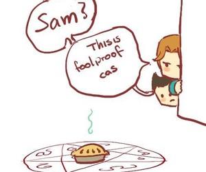 pie, supernatural, and castiel image