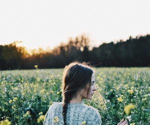 flower, nature, and girl image