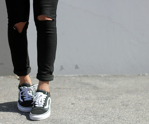 girl, vans, and outfit image