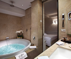 bathroom, luxury, and water image
