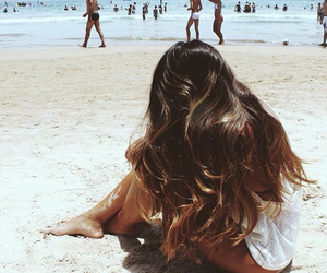 aesthetic, beach, and curly hair image