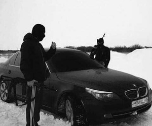 car, bmw, and snow image