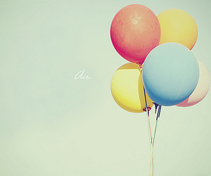 balloons, colors, and blue image