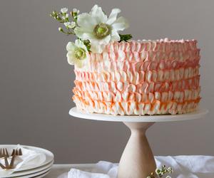 cake, pastel colors, and wedding cake image