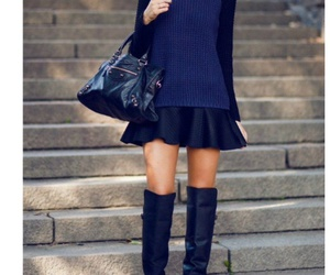 boots, couro, and cold weather image