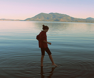 girl, photography, and water image