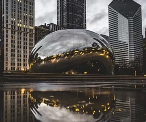 backpack, chicago, and city image