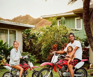 adventure, hawaii, and motorcycle image