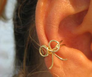 bow, non pierced, and earrings image
