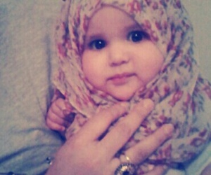babies, beautiful, and hijab image