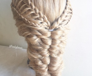 braids, hairstyle, and feather braids image