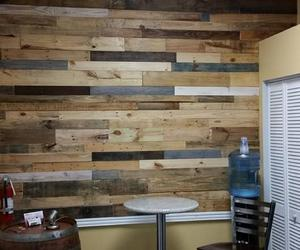 pallet wall art, pallet wall decor, and pallet wall ideas image