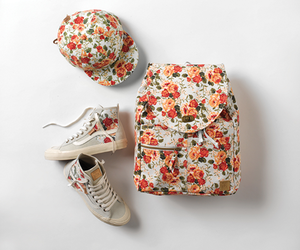 vans, flowers, and backpack image