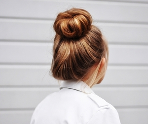 hair, girl, and bun image